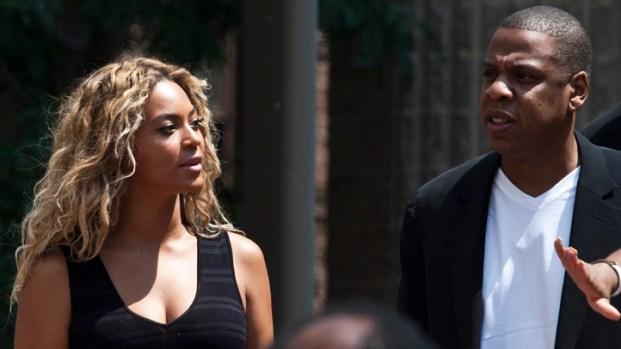 [NY] Jay-Z, Beyonce Attend Trayvon Martin Rally