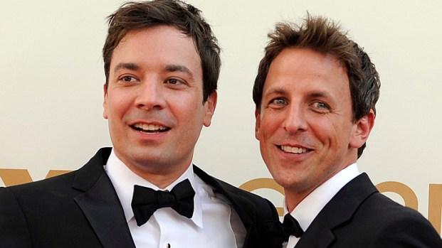 "[NATL] WATCH: Jimmy Fallon, Seth Meyers Talk Working on ""SNL"""
