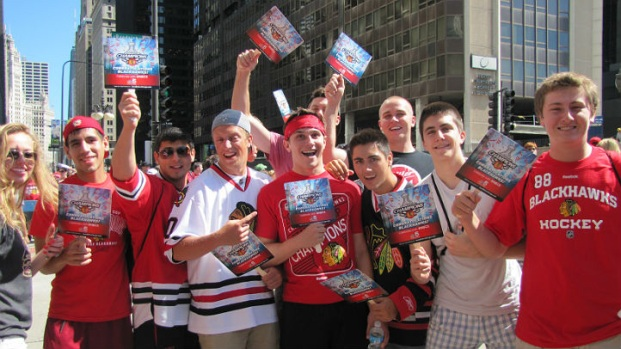 2013 Blackhawks Victory Parade: Fans