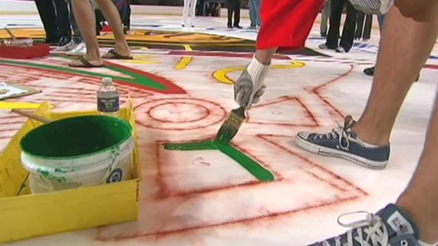 [CHI] Three Blackhawks Paint the Ice