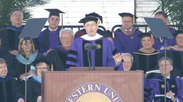 [CHI] Colbert Cracks About His Time at NU