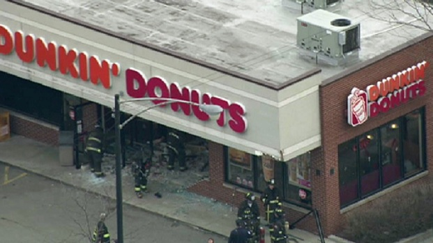 [CHI] SKY 5: Van Crashes Into Dunkin Donuts