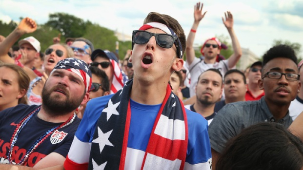 Fans Crowd Grant Park for World Cup Game