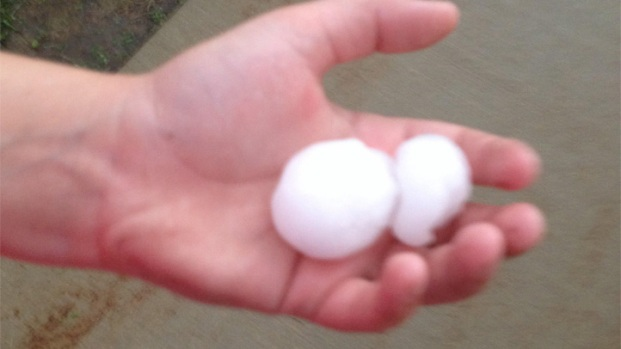 Large Hail Hits Chicago Area