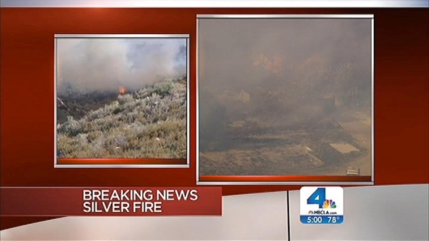 """[LA] """"Silver Fire"""" in Banning Prompts Mandatory Evacuations"""