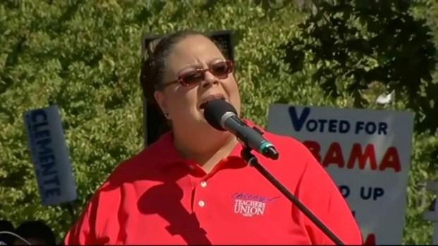 """[CHI] Karen Lewis' """"Solidarity Rally"""" Speech"""