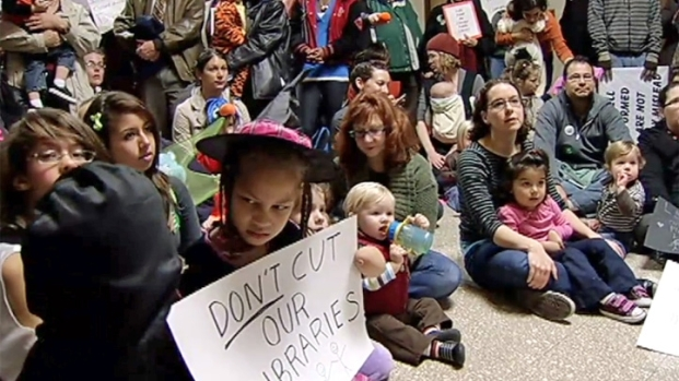 [CHI] Librarians Protest Rahm's Budget