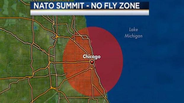 "[CHI] ""No-Fly Zone"" Over Chicago During NATO Summit"