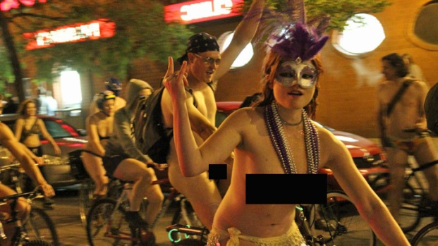 PHOTOS: World Naked Bike Ride