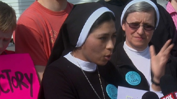 [CHI] Convent Nuns March on Adult Strip Club