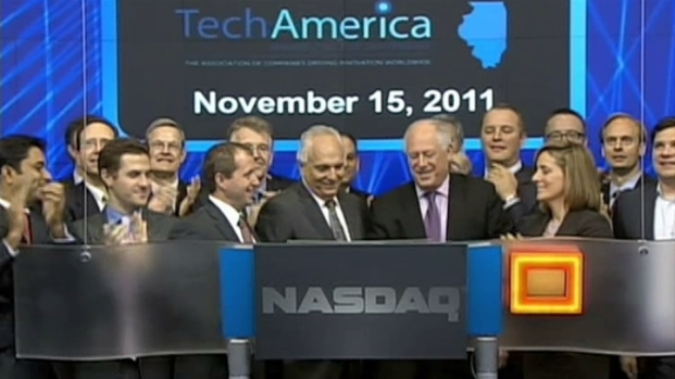 [CHI] Pat Quinn Rings the NASDAQ Bell