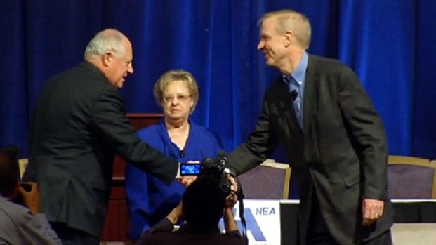 [CHI] Quinn, Rauner Make First Joint Appearance