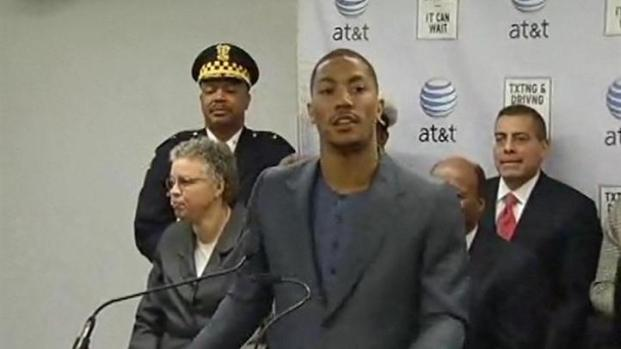 [CHI] WATCH: Humble Derrick Rose Speaks Amid Politicians
