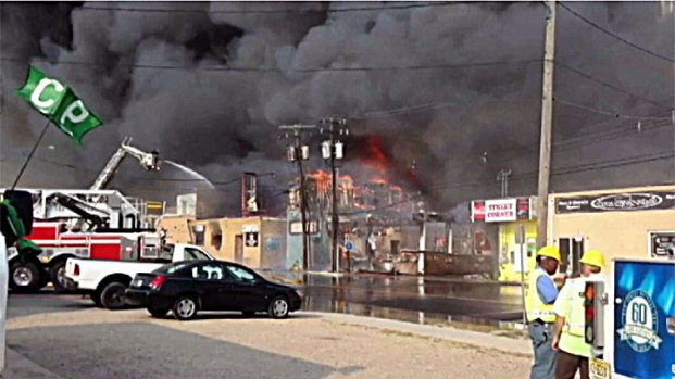 [PHI] Firefighters Dousing Hot Spots on NJ Boardwalk