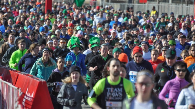Thousands Compete In 2014 Shamrock Shuffle