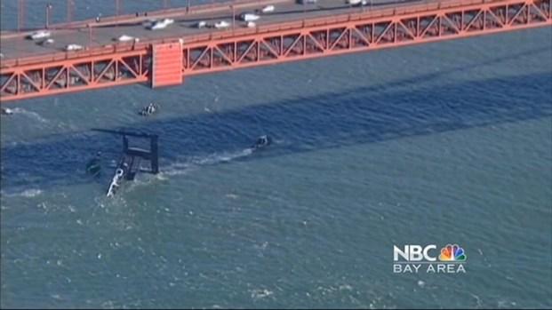 [BAY] Damaged Oracle Catamaran Finally Pulled From Bay