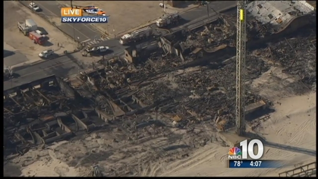 [PHI] Aerial View 24 Hours After Seaside Boardwalk Fire
