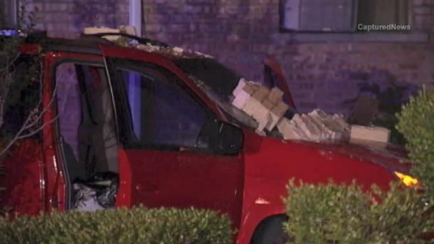 [CHI] RAW Car Slams into Burbank Home