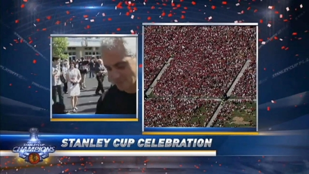[CHI] Mayor Emanuel Talks Blackhawks Success At Parade