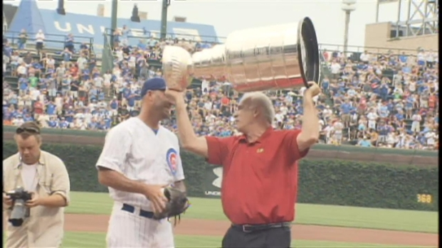 [CHI] Coach Q Takes Cup to Wrigley, Throws First Pitch