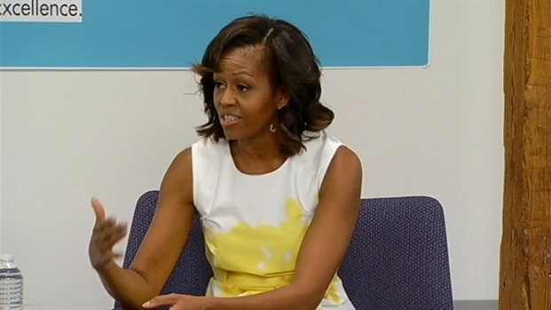 [CHI] Michelle Obama Visits Urban Alliance Chicago