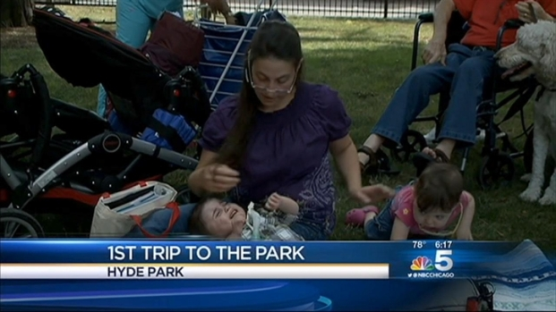 [CHI] Toddler Gets First Visit to Park After 15 Months in Hospital