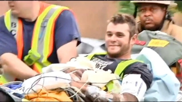 [DC] Rescued Worker Gives Thumbs Up