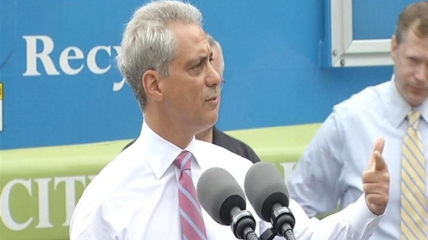 [CHI] Rahm on New Recycling Program