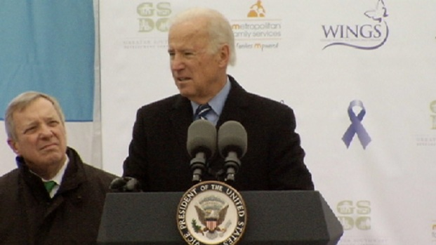 [CHI] VP Biden Helps Dedicate Chicago Domestic Violence Center