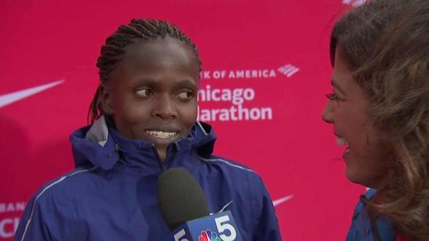 [CHI] Brigid Kosgei Talks World Record-Breaking Chicago Marathon
