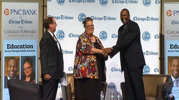 [CHI] Brizard, Lewis Share Stage at Education Forum
