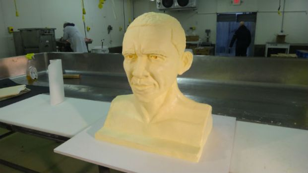 Artists Create Butter Bust of Obama