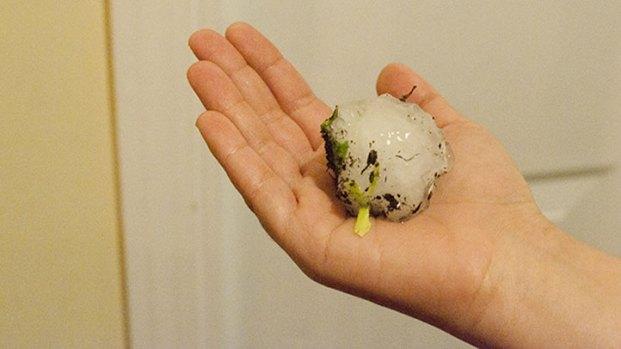 PHOTOS: Hail Storm Pounds Chicagoland