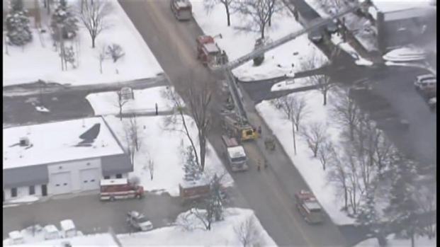 [CHI] Sky5 Above Cary Explosion, Fire
