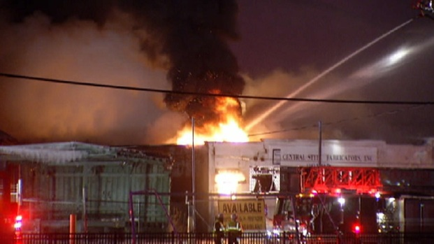 [CHI] Fire Destroys Vacant Cicero Warehouse