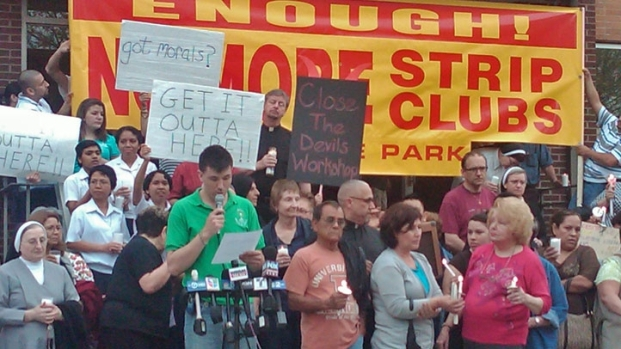 [CHI] Community Protests Strip Club Near Convent