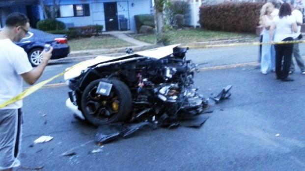 PHOTOS: Lamborghini Snaps in Half After Brooklyn Crash