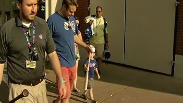[CHI] Little Boy Hit By Bat at Wrigley