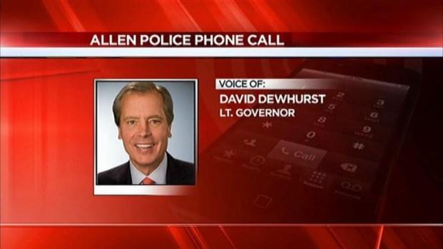 [DFW] Lt. Gov. Dewhurst Calls Police About Relative