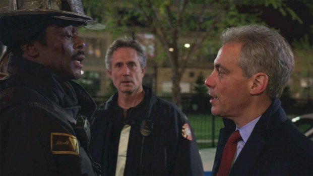 "[CHI] Preview Clip Shows Emanuel on ""Chicago Fire"""