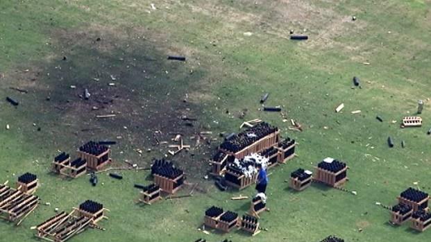 [LA] Noon Update: Crews Examine Debris After Fireworks Malfunction
