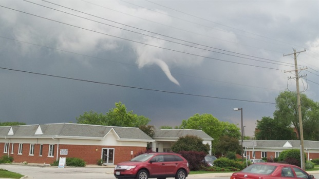 Funnel Clouds Spotted in Western Suburbs