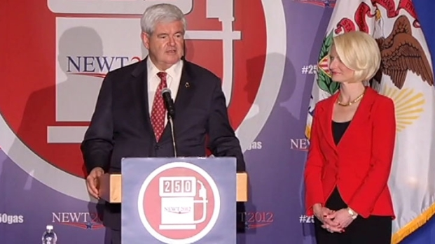 [CHI] Gingrich Holds Small Rally in Rosemont