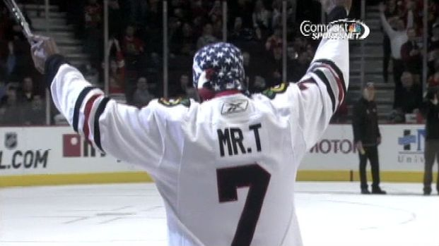 "[CHI] ""Pity The Puck:"" Mr. T Scores Goal At Blackhawks Game"