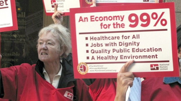 Nurses Protest Outside City Hall