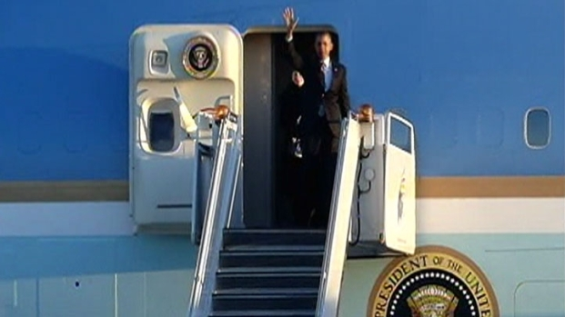 [CHI] Obama Lands in Chicago