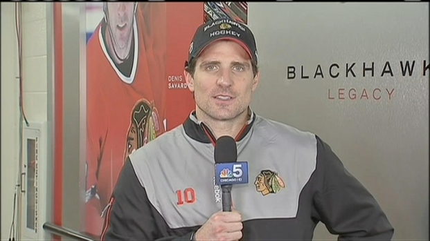 [CHI] Patrick Sharp on Blackhawks' Scoring Streak