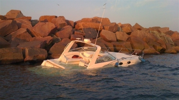 [CHI] Boat Slams into Breakwall at 30 MPH