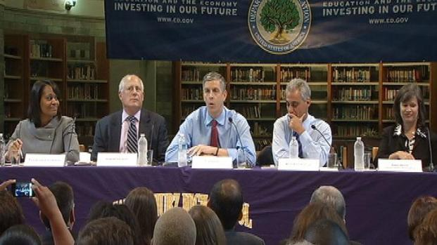 [CHI] Emanuel, Duncan Talk Longer School Days