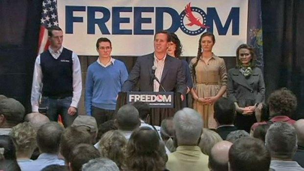 [CHI] Santorum Addresses Supporters